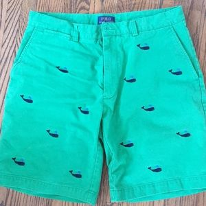 Polo Ralph Lauren Green Whale embroidered shorts